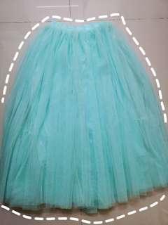 Pom Pom Turquoise Skirt