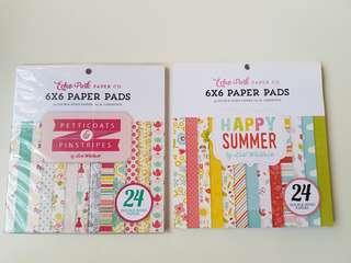 6 x 6 scrapbook paper pads - Echo Park