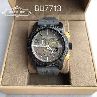 🚚 BU7713 BURBERRY 運動風格三眼計時男錶 瑞士原廠機芯 藍寶石鏡面 44mm