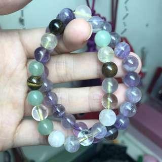 全新水晶手鏈 紫晶貓眼石等