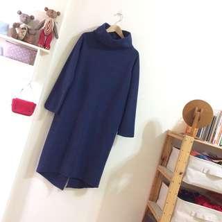 正韓高領暖暖洋裝