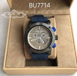 🚚 正品Bu7714 BURBERRY 瑞士原廠機芯 藍寶石鏡面 運動系列三眼計時男石英手錶