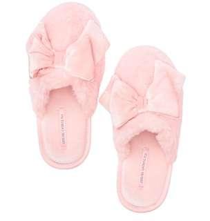 Victoria Secret Velvet Bow Slipper S(5-6)