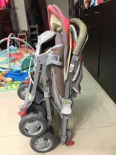 POPO全罩式鋁合金雙向推車(二手)
