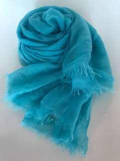 100% Cashmere 頸巾(Tiffany藍色)