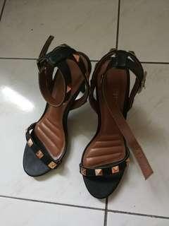 PU Leather Studded Heels