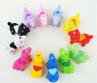 🚚 跳跳馬 12色-Rody跳跳馬家族大集合-ロディ公仔娃娃-彩虹糖果色系 拍照道具 洗澡玩具日本帶回