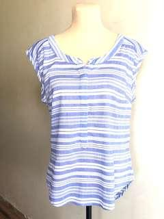 Merona blue stripe top