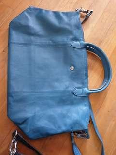AuthLongchamp leather bag