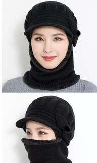 Winter Warm Hat Scarf Set Beanie