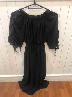 🚚 Plus size Black Off Shoulder Dress