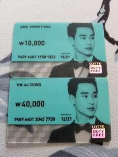 Lotte Gift Cards (50000won)