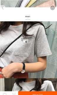 🚚 Preorder Missy spring and summer new japanese ullzang ladies students cute cat tee