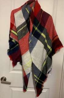 Zara Checkered Blanket Scarf
