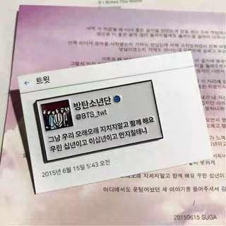BTS Twitter Enamel Pins