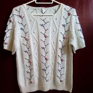 HK Vintagey Knit Top