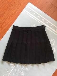 AMERICAN APPAREL BLACK TENNIS SKIRT SIZE SMALL
