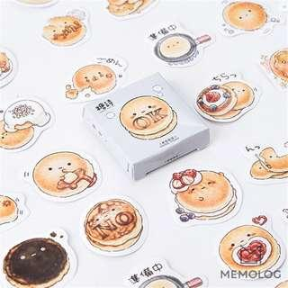 45pcs Playful Round Pancake Sticker Pack