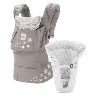 Ergobaby Original原創款背帶 -子夜星空(灰)-含新生兒保護墊
