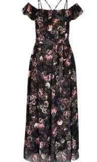 City Chic Vintage Peony Maxi Dress