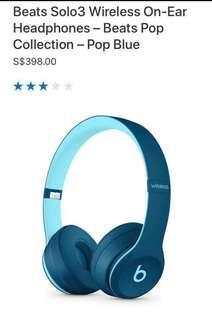 Beats Solo 3 Headphones in Blue