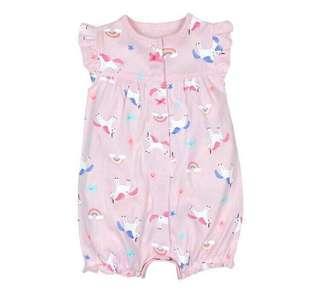 🚚 📮Free postage Pink unicorn cute romper