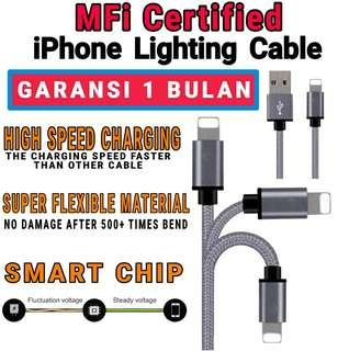 MFI CERTIFIED kabel data charge lighting iphone