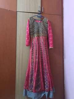 DRESS FOR SELL ( FANCY ANARKALI LONG DRESS)