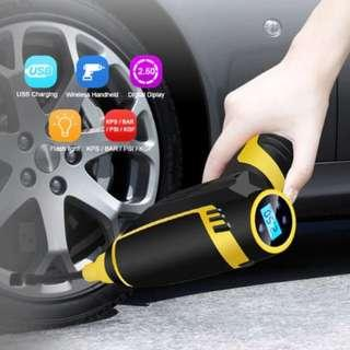 Wireless/Wired Smart Rechargeable Digital Tire Inflator DC 12 Volt Portable Pump 150 PSI A