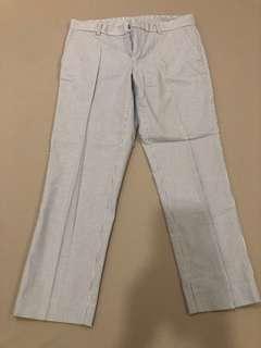 🚚 Uniqlo 條紋西裝褲 (有污漬)