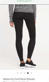 🚚 OLD NAVY Maternity Elevated Full Panel Compression Leggings Black XS active wear