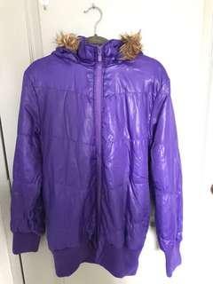 🚚 PRE-LOVED: WINTER: Padded Jacket with Hoodie (PURPLE)