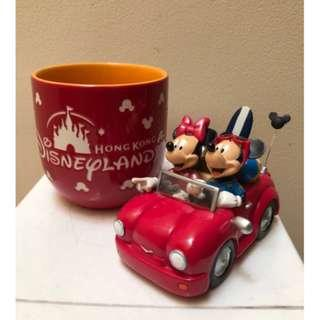 Original Mug Disney HK and pajangan mobil Mickey Minnie Mouse