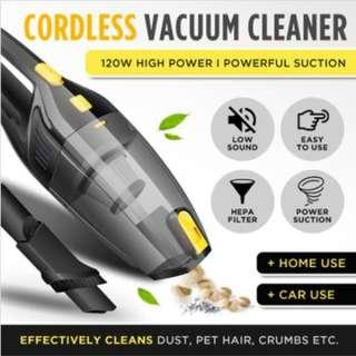 ★SG LOCAL★Cordless Handheld Vacuum Cleaner★120W 12V High Power Low Noise★Wet and Dry Use Car/Home