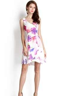 Lilypirates Infinite Prism Dress in Purple Florals