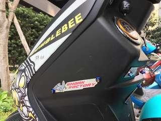 🚚 鯊魚 鐵牌 鋁牌 裝飾用 車殼可鎖 防燙蓋可鎖