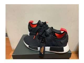 Adidas NMD R1 黑橘 特殊款             (鞋附經典三葉草)