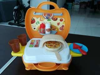 Pizza cooking set