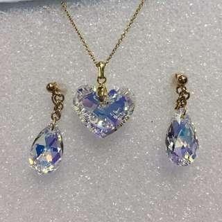 Swarovski Earrings and Necklace