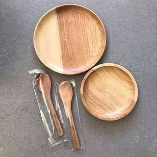 🚚 ABC Cooking Studio Kitchen Wooden plates and spoons