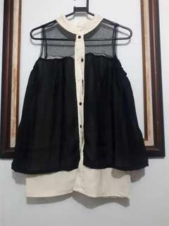 Mididress black top