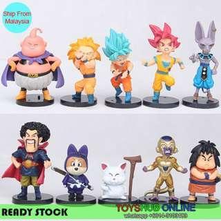 Dragon Ball Z Son Goku Vegeta Action Mini Figure Kids Gift Figurine Toys 10pcs