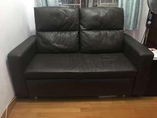 真皮兩座位sofa床