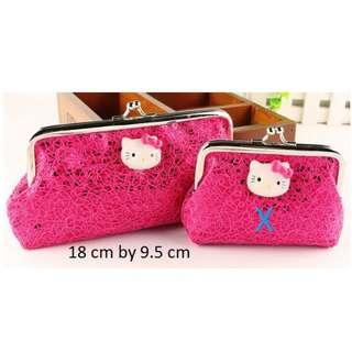 Hello Kitty Cartoon Cat Head Wallet Purse Bag - Long