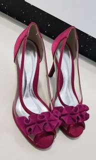 Magenta female party shoes