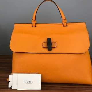 🚚 Gucci Bamboo Daily Leather Top Handle Bag