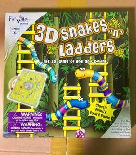 3D Snakes 🐍 & Ladders Plastic Board Games ♟