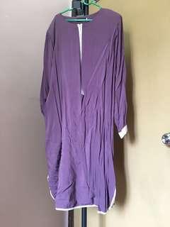 Hijriahome Purple Long Blouse