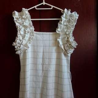 Cream Pinafore Dress