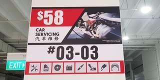 Car servicing & aircon flushing